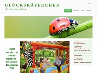 Vorschaubild der Webseite Kindertagespflege Glückskäferchen