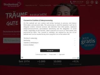 Vorschaubild der Webseite Studienkreis Leipzig
