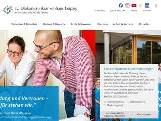Vorschaubild der Webseite Krankenpflegeschule der Ev. Diakonissenkrankenhaus Leipzig gGmbH