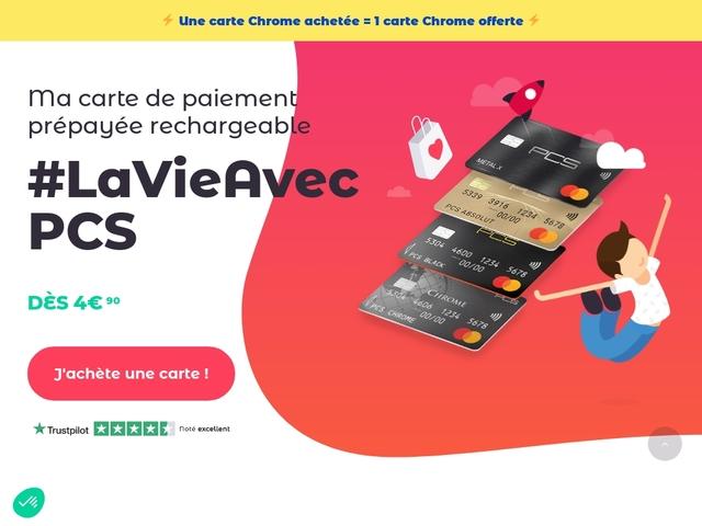 Carte de paiement en ligne sécurisée de PCS Card
