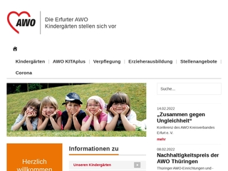 Vorschaubild der Webseite Integrative Kindertagesstätte Rabennest Erfurt