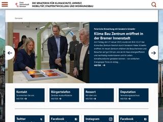 Vorschaubild der Webseite Senator für Umwelt, Bau und Verkehr - Bibliothek