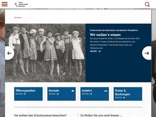 Vorschaubild der Webseite Schulmuseum Bremen