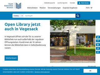 Vorschaubild der Webseite Bibliothek Vegesack