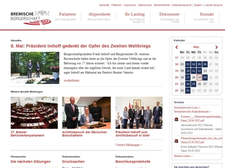 Vorschaubild der Webseite Bremische Bürgerschaft - Bibliothek