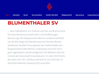 Vorschaubild der Webseite BSV-Blumenthaler Sportverein von 1919 e. V.