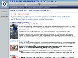 Vorschaubild der Webseite Bremer Eisverein e.V.