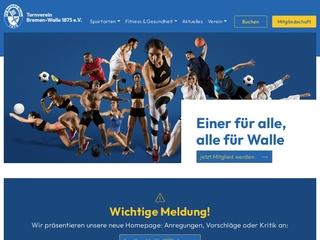 Vorschaubild der Webseite TV Bremen-Walle 1875