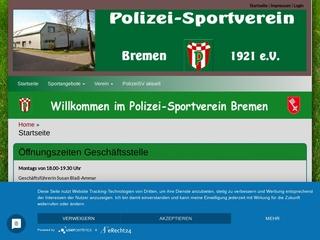 Vorschaubild der Webseite Polizei-Sportverein Bremen