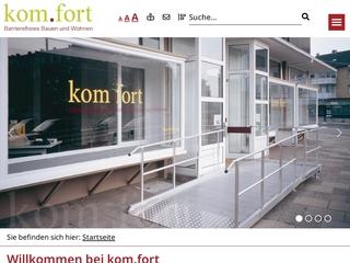 Vorschaubild der Webseite von kom.fort e.V. Beratung für Barrierefreies Bauen und Wohnen