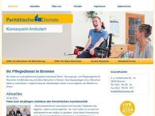 Vorschaubild der Webseite von Paritätische Dienste Bremen gGmbH - Haus Obervieland
