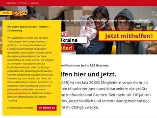 Vorschaubild der Webseite von Arbeiter-Samariter-Bund ASB - Gesellschaft für soziale Hilfen mbH