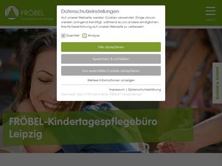 Vorschaubild der Webseite Kindertagespflegebüro der Fröbel gGmbh