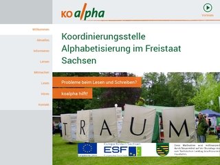 Vorschaubild der Webseite Koordinierungsstelle für Alphabetisierung Koalpha