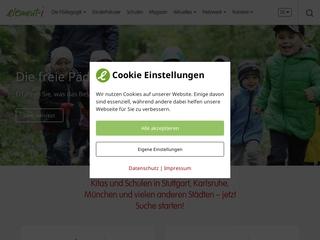 Vorschaubild der Webseite element-i-Kinderhaus Südstadtstrolche