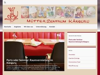 Vorschaubild der Webseite Kinderbetreung des Mütterzentrum Känguruh