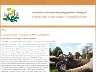 Vorschaubild der Webseite von Kindertagesstätte Haus Löwenzahn