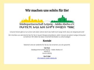 Vorschaubild der Webseite von Städtepartnerschaft Leipzig - Addis Abeba e.V.