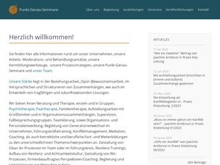 Vorschaubild der Webseite Praxis für Psychotherapie, Paartherapie, Supervision, Coaching, Mediation und Prozessgestaltung