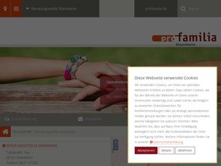 Vorschaubild der Webseite pro familia Mannheim e.V.