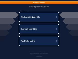 Vorschaubild der Webseite Neue Nikolaischule - Gymnasium