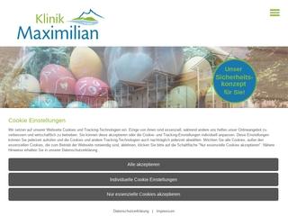 Vorschaubild der Webseite Kurklinik Maximilian