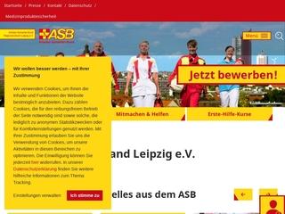 Vorschaubild der Webseite ASB-Hausnotruf