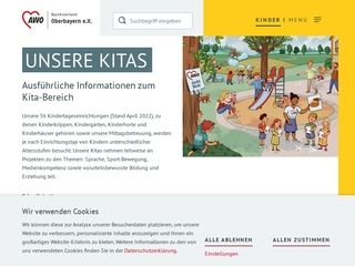 Vorschaubild der Webseite Integrativer AWO Kindergarten Regenbogen