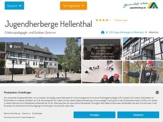 Vorschaubild der Webseite Jugendherberge Hellenthal