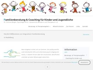 Vorschaubild der Webseite von Familienberatung  Coaching für Kinder und Jugendliche