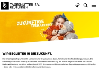 Vorschaubild der Webseite Tagesmütter e.V. Reutlingen