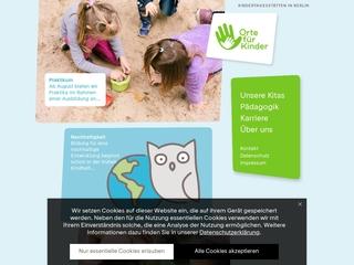 Vorschaubild der Webseite Kindertagesstätte Hohenzollernstraße