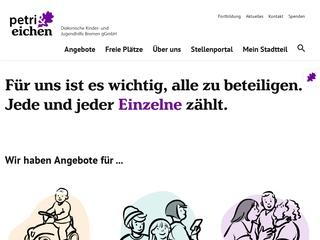 Vorschaubild der Webseite Wochengruppe Alten Eichen