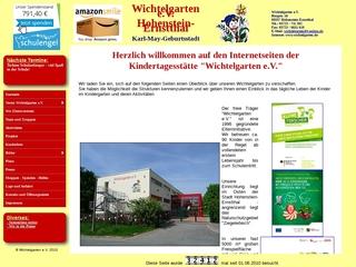 Vorschaubild der Webseite Kindertagesstätte Wichtelgarten