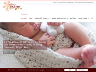 Vorschaubild der Webseite von Geburtshaus ins-Leben