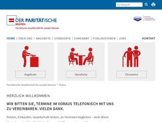 Vorschaubild der Webseite von Dienstleistungszentrum Obervieland der Paritätischen Gesellschaft für soziale Dienste mbH