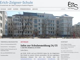 Vorschaubild der Webseite Erich-Zeigner-Schule - Grundschule