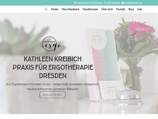 Vorschaubild der Webseite von Kathleen Kreibich Praxis für Ergotherapie