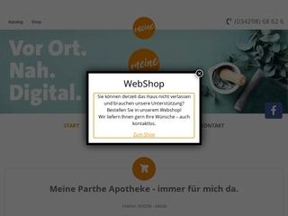 Vorschaubild der Webseite Parthe Apotheke