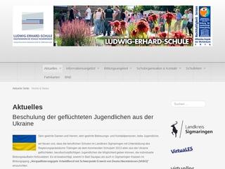 Vorschaubild der Webseite Ludwig-Erhard-Schule - Kaufmännische Schule Sigmaringen