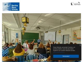 Vorschaubild der Webseite Bertha-Benz-Schule Sigmaringen