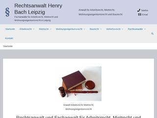 Vorschaubild der Webseite Rechtsanwalt Henry Bach