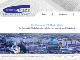 Vorschaubild der Webseite Rechtsanwalt Ulf-Mario Milde