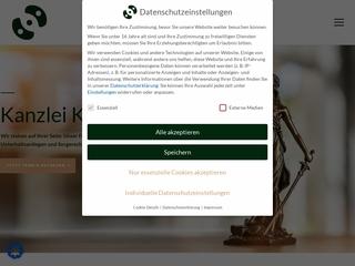 Vorschaubild der Webseite Kreidekreise - Anwaltspraxis für Familienrecht und Erbrecht