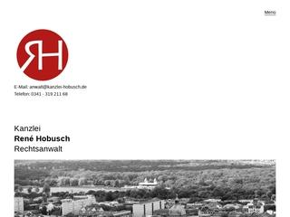 Vorschaubild der Webseite von Rechtsanwalt René Hobusch