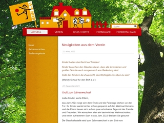 Vorschaubild der Webseite BUK e.V. - Verein für Bewegung und Kreativität in der Kindertagesstätte