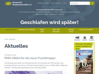 Vorschaubild der Webseite Netzwerk für Demokratische Kultur e.V.