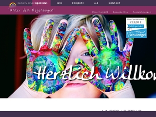 Vorschaubild der Webseite Kirchliche Kindertagesstätte Unter dem Regenbogen