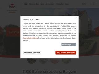 Vorschaubild der Webseite K und S Seniorenresidenz  Haus Rolandstadt