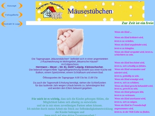 Vorschaubild der Webseite von Kindertagespflege Mäusestübchen